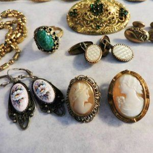 Lot Victorian Vintage Jewelry 15 Pieces